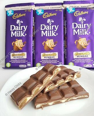 2 x Cadbury Dairy Milk Caramello Sundae - Special Edition 195g Chocolate Blocks