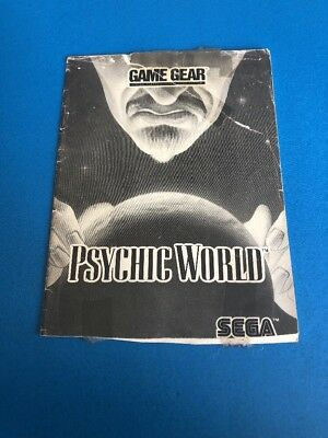 Psychic World Sega Game Gear Original MANUAL ONLY! Instruction Booklet!