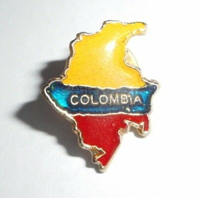 Hat Lapel Pin Badge COLOMBIA Country Flag South America Travel Souvenir