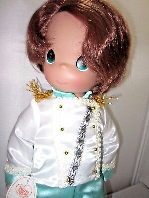 "New Precious Moments Large 18"" The Little Mermaid Prince Eric Boy Doll Disney"