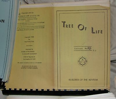 Tree Of Life 1-40,B.O.T.A,AMORC,Rosicrucian,Occult,Esoteric,Metaphysical,OTO