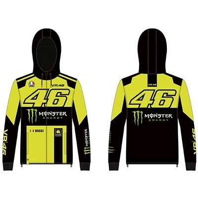 VR46 Full Zip Hoody Hoodie MONSTER Valentino Rossi Official MotoGP Merchandise