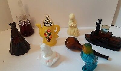 lot of 8 vintage 1970's empty avon cologne and perfume bottles collectable
