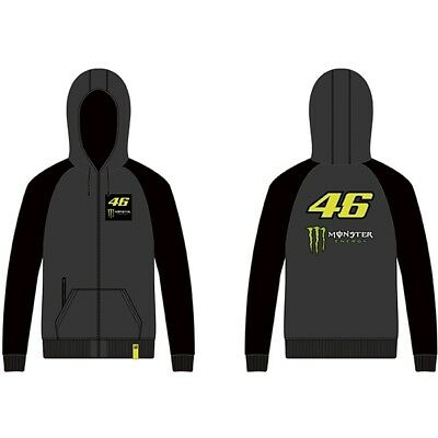 VR46 Full Zip Hoody MONSTER ENERGY Valentino Rossi Official MotoGP Merchandise