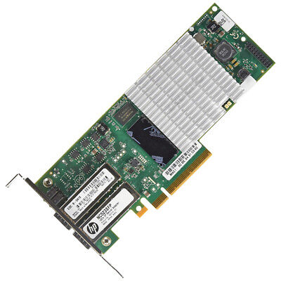 LOW PROFILE HP NC523SFP Dual-Port 2x 10GbE-LAN SFP+ PCIe x8 593717-B21 +++