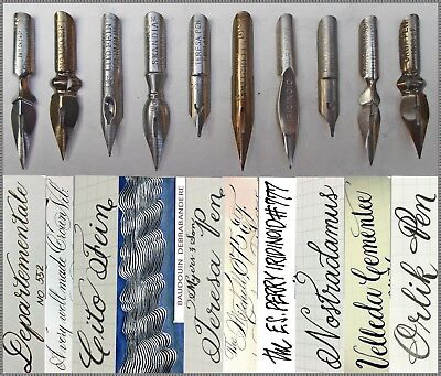 First collection of 10 x 3 vintage nibs e.g. Perry,Mitchell,Brause