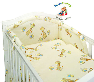 "BlueberryShop BABY TODDLER jUNIOR BED COT BUMPER 35cm x 150cm (13.8"" x 59"")"
