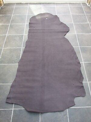 Big Leather Cow Hide Dark Brown Smooth 15.75 Sq Ft - 194x80cm