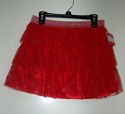 Holiday Time red polka dot skirt size L (10-12)
