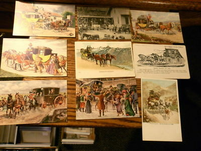 #8069,Collection of Stagecoach Postcards
