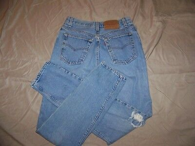 Vintage USA Made LEVI'S 501 Women's High Rise Button Fly Jeans 11 M
