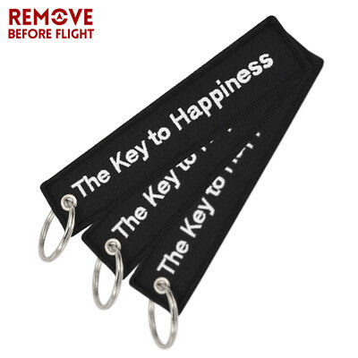 The Key to Happiness Key Chain Bijoux Keychain for Motorcycles Cars Gifts 3pcs