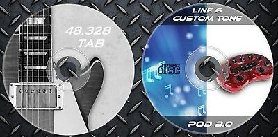 11.259 Patches Line6 POD 2.0 Proccesor & 48.328 Guitar Tab Sheet Music Book