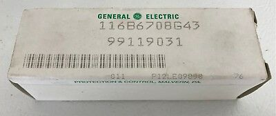NEW General Electric Indicating Light GE-ET 116B6708G43, 125VDC, 12.5W