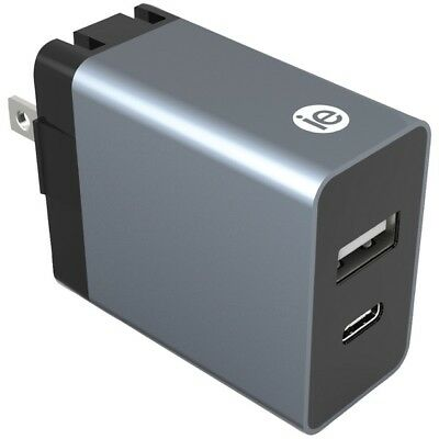 Iessentials(R) Ien-Ac31A1C-Wt 3.4-Amp Dual-Usb Wall Charger IENAC31A1CWT