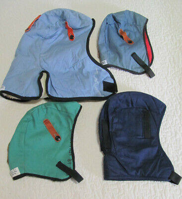 Lot 4 Vintage Hard Hat Helmet Winter Liners All Lined, all are Flame Retardant