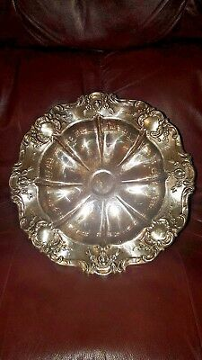 ✔Extremely Rare! Large! Antique Vintage Towle Decorative Silver Plate Bowl ✔