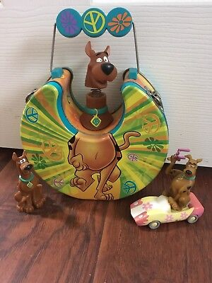 Scooby Doo Aluminum Lunch Box Collectible Bobble Head W/ Figurine Toys