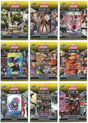 2016 Upper Deck Marvel Annual Top 10 Heroes You Pick the Card, Finish Your Set