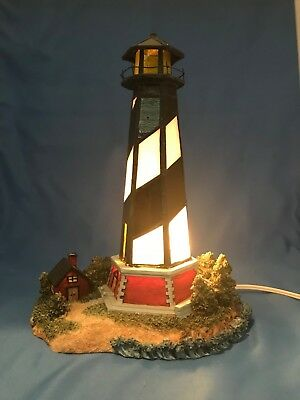 Lighthouse Stained-Glass Style and Resin Lighted