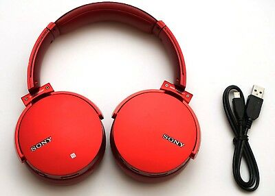 Sony Mdr Xb950bt R Wireless Stereo Extra Bass Headset Bluetooth Red 45 98 Picclick