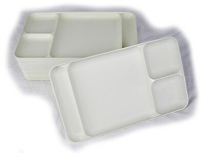 Tupperware Divided Serving Cafeteria Lunch Dinner Dining Trays Camping White