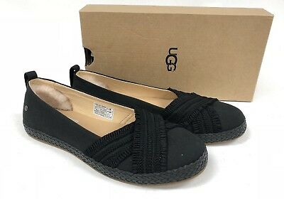 83ba039543b UGG AUSTRALIA YNEZ Slip On Flat 1092238 Black Women's Shoes Flats Canvas
