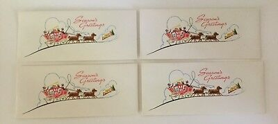 Lot of 4 Vintage Christmas Money Holder Envelopes~Queen City Savings and Loan