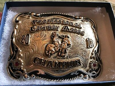 NATIVE AMERICAN Made Champion Professional RODEO TEAM ROPING ROPER TROPHY BUCKLE