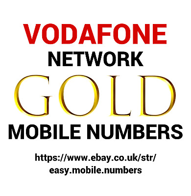 Easy Memorable Gold Mobile Phone Number On Vodafone Pay As You Go Sim Card