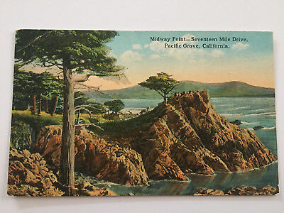 Midway Point 17 Mile Drive Seventeen Pacific Grove CA 1927