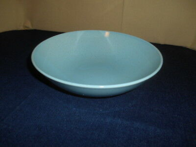 "Vintage Mid Century Taylor Smith Taylor Turquoise Pebbleford 9"" Serving Bowl TST"