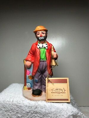 EMMETT KELLY JR. COLLECTION CLOWN from FLAMBRO TRUMPET and SO SAD w/tag1984