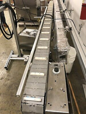 "Stainless Conveyor - 8 Feet Long x 6"" Wide"