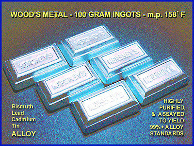 WOOD'S METAL ALLOY 200g m.p.158°F/70°C 30X Purified
