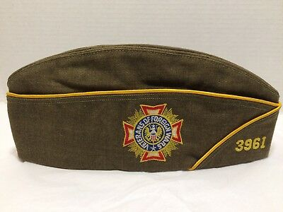 Vintage VFW Veterans Of Foreign Wars Colorado-3961 Cap Military Army
