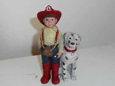 Rare Sarah's Attic Fireman Bud Limited Edition Figurine With Dalmatian Numbered