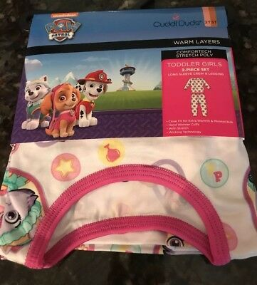 NICKELODEON PAW PATROL CUDDL DUDS Toddler Girl Polyester Size 2T/3T NWT