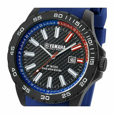 YAMAHA Genuine Factory Racing Watch 40mm Carbon Case Water Resistant *NEW*