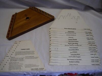 Vintage Ussr Russian Nepenevoyka Lap Harp With Music Maker Song Sheets