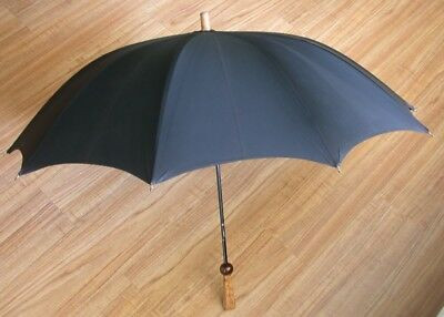 Vtg Umbrella Parasol Olwin Made In Austria Black
