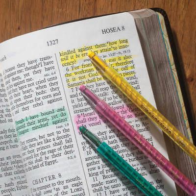 Set of 3 Bible Dry-Liter Pink Green Yellow Dry Marker Pen