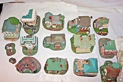 Gone with the Wind -Hawthrone Village  Houses  Lot of 13  & People