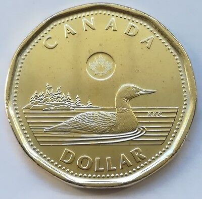 2018 Canada One Dollar Coin Coin (Mint Condition UNC. Loonie)