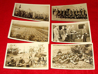 11 WWII Era RPPC Postcards Pine Camp / Fort Drum US Army Training Great Bend NY