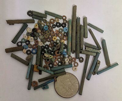 More than a Hundred 2500 Year old Ancient Egyptian Faience Mummy Beads (K1518)
