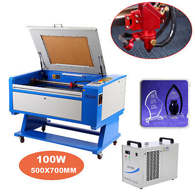 "100W Co2 Laser Cutter Engraving Cutting Machine 28″x20"" USB Water Chiller Cooler"