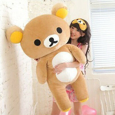 80cm San-x Rilakkuma Relax Bear Soft Giant Plush Doll Toy Stuffed Pillow Gift US