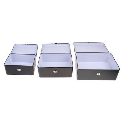 "Locking Sicherheits Safe Cash Box Geld Bank Kaution Fall 7 ""+ 8"" + 10 ""Stil"