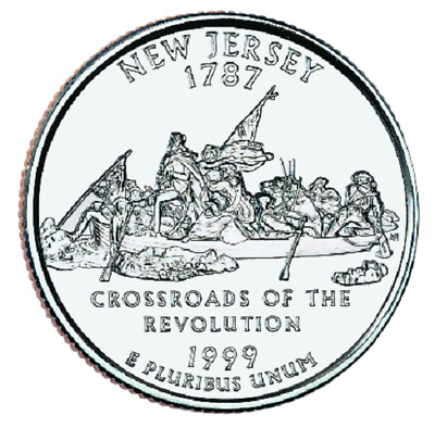 1999 - P  New Jersey   State Quarter  **BRILLIANT UNCIRCULATED**